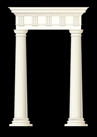 roman pillar: illustration drawing of architectural element Illustration