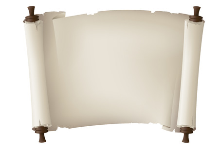 parchment scroll: old paper banner