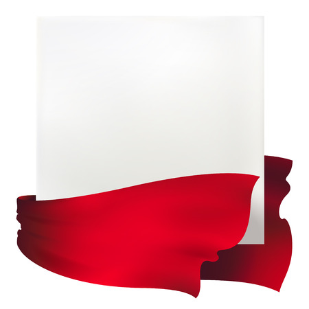 zwaaien rood lint banners Stock Illustratie
