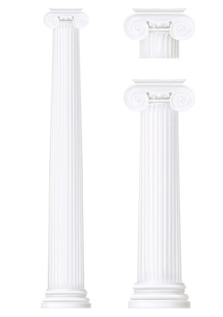 hellenistic: set of ionic column , vector drawing