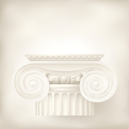 greek columns: architectural background , ionic column