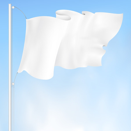 white waving flag