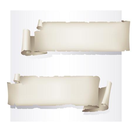 oud papier stickers, vector tekening