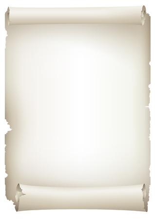 古い紙のバナー、ベクトル描画