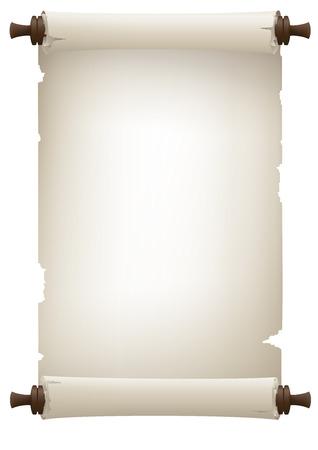 alte Papier-Banner, Vektor-Zeichen