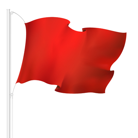 red waving flag