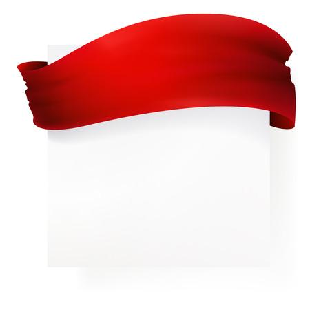 ruban rouge bannière, dessin vectoriel