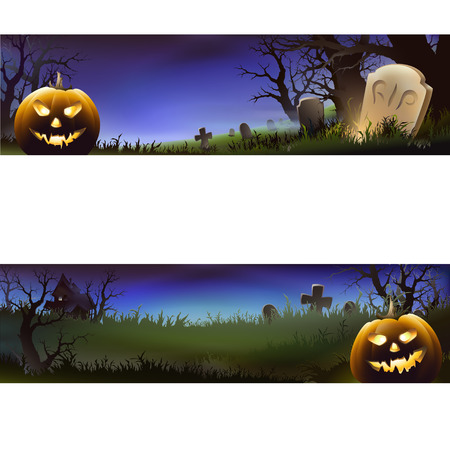 short sale: halloween banner Illustration
