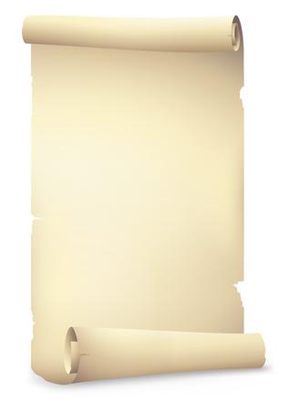 bandeiras de papel velho do rolo, desenho vetorial Ilustração