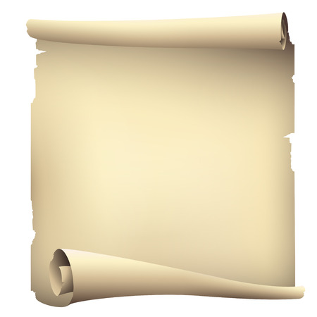 torn paper background: old scroll paper banners , vector drawing