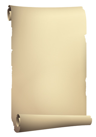 Old paper rolled banner Vector