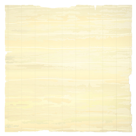 Papyrus Paper Isolated on White Background.