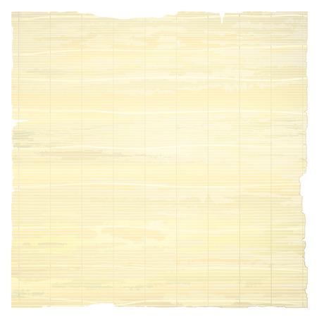 Papyrus papier op een witte achtergrond.