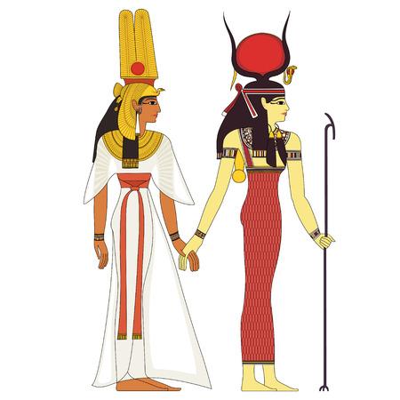 Egiziano antico simbolo, figura isolata di antiche divinità egitto