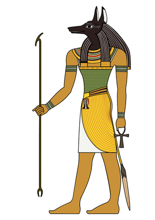 Egyptische oersymbool, geïsoleerde figuur van oude goden van Egypte Vector Illustratie