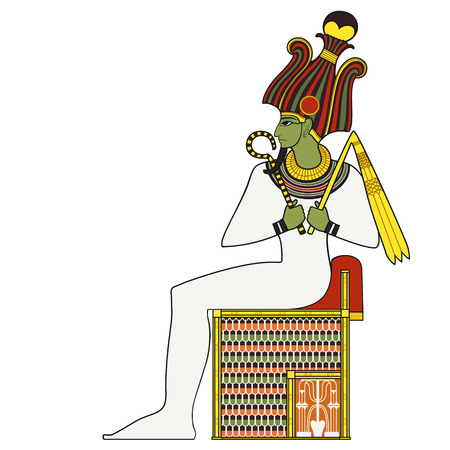 Osiris ,isolated figure of ancient egypt god