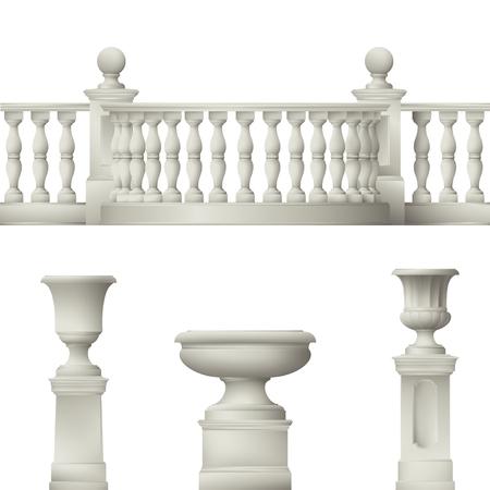 pillar: park and garden decorative elements Illustration