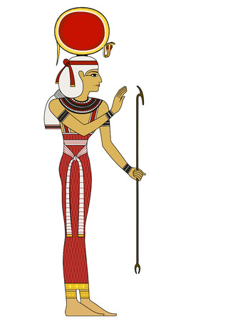Isis , Isolated figure of ancient egypt god