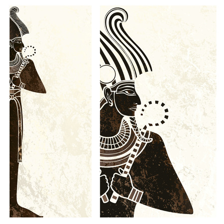 cleopatra: template banner with ancient egypt symbol