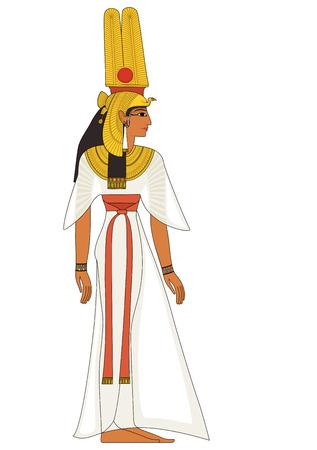 Nefertiti Egyptische oude symbool geïsoleerd figuur van het oude Egypte goden