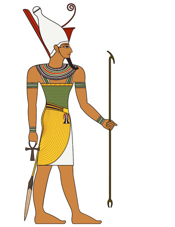 Farao Egyptische oude symbool geïsoleerd figuur van het oude Egypte goden
