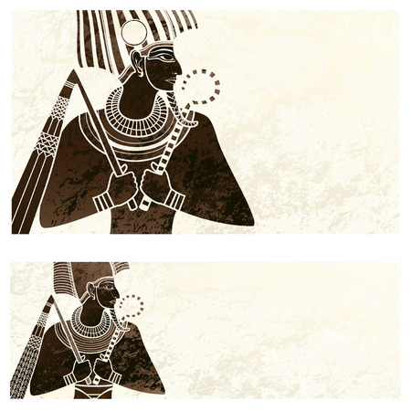 egypt anubis: template banner with ancient egypt symbol