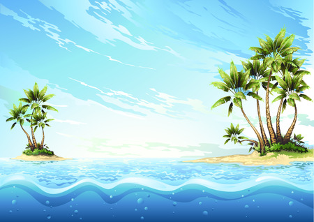 thatched: tropical island