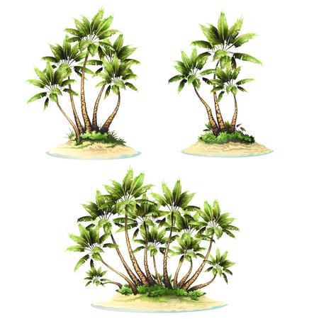 tropisch eiland Stock Illustratie