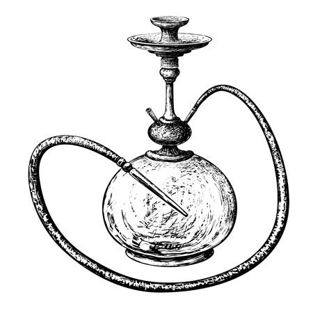 hookah vector silhouettes