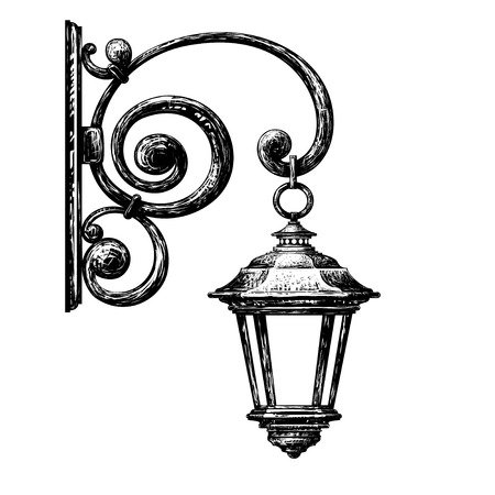 sign post: street light Illustration