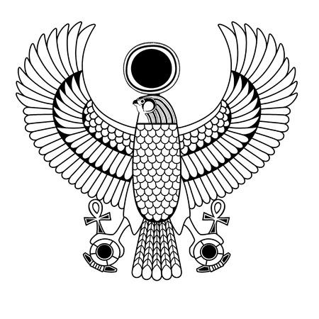 horus: Conjunto de símbolo egipcio antiguo, elemento egipcio, faraón Vectores