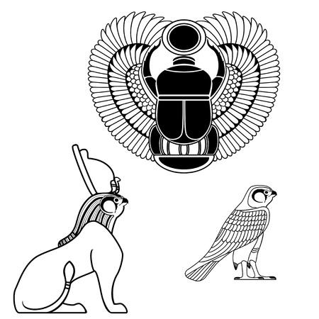 Set of egyptian ancient symbol, egyptian element , pharaoh