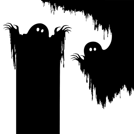 Halloween nightmare monster,Creepy ghost as background Ilustracja