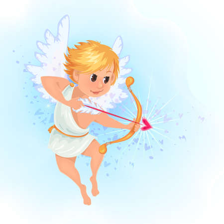 Little angle.Cupid with arrow.Valentine.