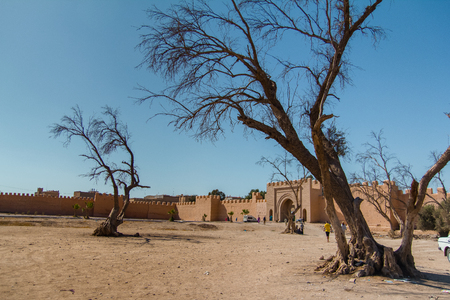 The ancient city walls in Taroudant, Morocco, on September 8, 2012  Stock Photo