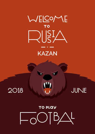 Welcome to Russia poster design Illustration