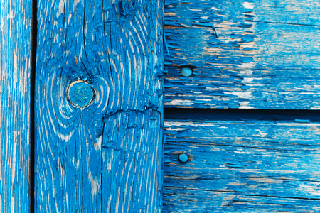 The blue wood texture with natural patterns. Stock Photo