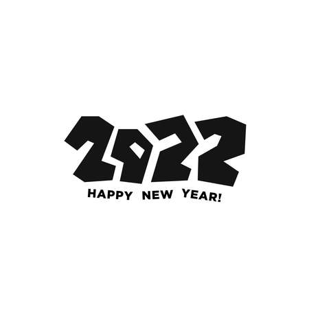 2020 Logotype of the year. Vector modern minimalistic text with colorful numbers. Conceptual design. Vector perfect modern minimalistic text with black numbers. Graffiti style