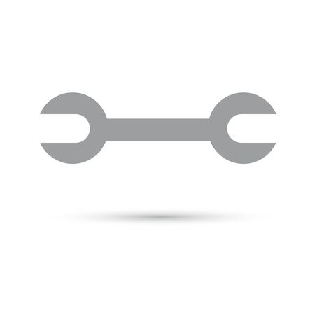 Wrench Icon gray on a white background