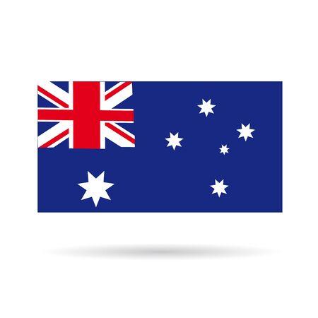red kangaroo: Australian flag icon on a white background Stock Photo