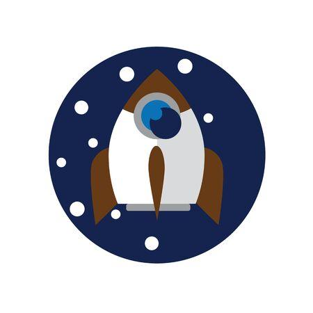 Rocket icon color Illustration