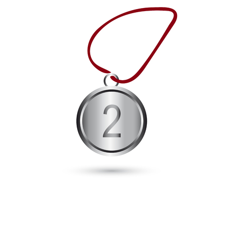 Icon silver medal on a white background