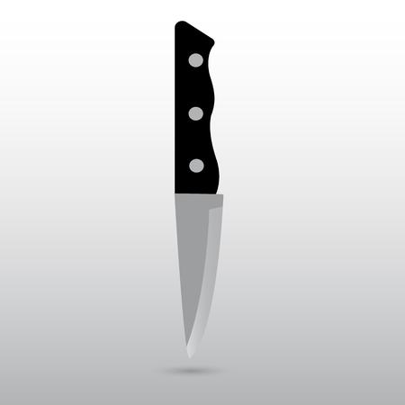 black appliances: Icon kitchen knife on a white background
