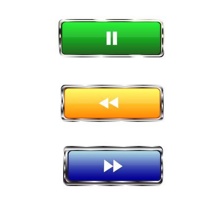 translucent: colored rectangular buttons