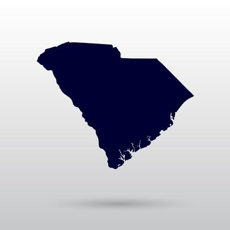 사우스 캐롤라이나 주지도