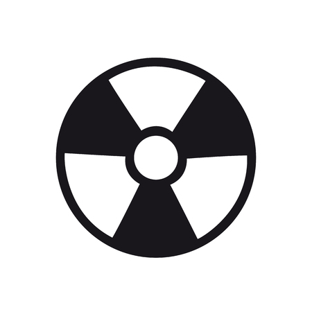 ionizing: Ionizing radiation icon black on white background