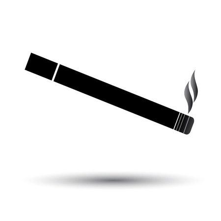Cigarette icon black and white Illustration