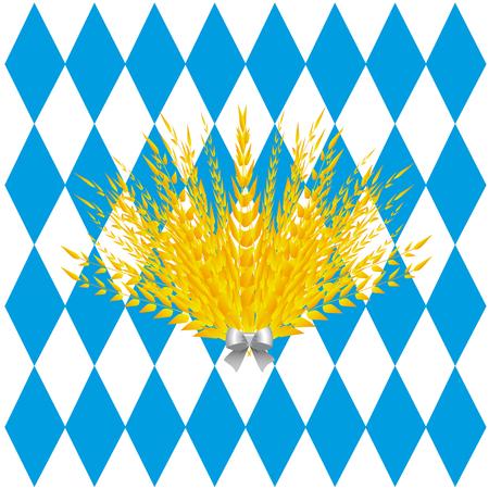 repeats: Background of lozenges Oktoberfest