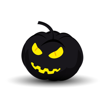 Icon evil pumpkin on Halloween Illustration