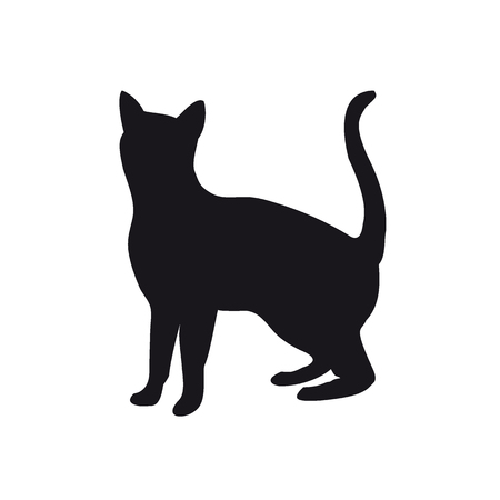 Silhouette of a cat Stock Vector - 83810395